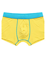 Color Block Boxers Underwear,Polyester Ice Silk