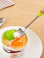 2Pcs/Set  Creative Spade Shape Stainless Steel Spoon Fork Coffee Spoon Stirring Spoon Long Handle