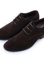 Черный Коричневый Хаки-Для мужчин-Для офиса Повседневный Для вечеринки / ужина-Замша-На плоской подошве-Удобная обувь-Мокасины и Свитер