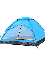 2 personnes Tente Unique Tente pliable Une pièce Tente de camping 1000-1500 mm Fibre de verre OxfordRésistant à l'humidité Etanche