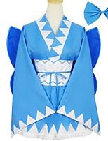 Инвентарь Японский стиль Лолита Косплей Платья Лолиты Однотонный Длинный рукав Короткие / Мини Для
