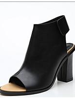 Damen-High Heels-Lässig-PU-Niedriger Absatz Blockabsatz-Fersenriemen-