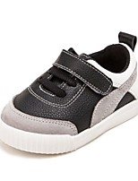 Girls' Baby Flats First Walkers Cowhide Spring Fall Casual First Walkers Flat Heel White Black Ruby Flat