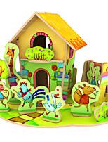 Quebra-cabeças Quebra-Cabeças 3D Blocos de construção Brinquedos Faça Você Mesmo Casa 1 Madeira Modelo e Blocos de Construção