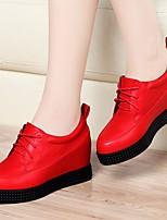 Da donna Sneakers Comoda PU (Poliuretano) Primavera Casual Nero Rosso Piatto