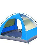 3-4 personnes Tente Double Tente pliable Une pièce Tente de camping 2000-3000 mm Oxford Résistant à l'humidité Etanche Résistant au vent-