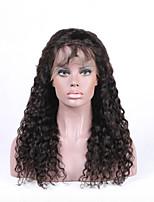 Beata Hair Brazilian Virgin Hair Deep Curly Glueless Lace Front Wigs with Baby Hair - 7A Grade Human Hair Wigs for Black Women