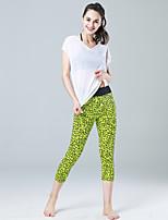 Pantalon de yoga Pantalon/Surpantalon CorsaireRespirable Séchage rapide Haute respirable (>15,001g) Compression Matériaux Légers Doux