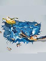 Животные Мультипликация 3D Наклейки Простые наклейки 3D наклейки Декоративные наклейки на стены Свадебные наклейки,Бумага Винил материал
