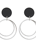 Drop Earrings Women's Girls'Euramerican Fashion Personality Circle Party Daily Business Hoop Earrings Movie Jewelry