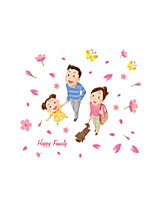 Wall Stickers Wall Decals Style Cartoon Happy Family PVC Wall Stickers