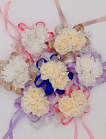 10 предметов 10 Филиал Шелк Полиуретан Другое Розы Букеты на стол Искусственные Цветы