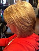 alta qualidade média franja parcial maduro cabelo comprido cabelo da mulher peruca de cabelo humano