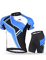 Nuckily Cycling Jersey with Shorts Men's Short Sleeve Bike Clothing SuitsQuick Dry Ultraviolet Resistant Breathable Soft Comfortable