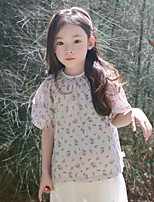 Girl's Casual/Daily Solid Dress,Cotton Summer Spring 3/4-Length Sleeve
