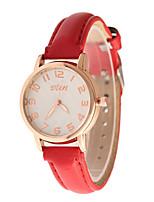 Mulheres Relógio de Moda Quartzo Couro Banda Casual Preta Branco Vermelho Roxa