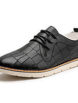 Men's Oxfords Formal Shoes Comfort Leather Summer Fall Office & Career Party & Evening Casual Lace-up Flat Heel Beige Orange Black Flat