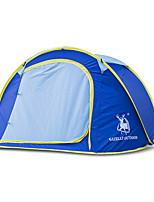 3-4 personnes Tente Unique Tente pliable Une pièce Tente de camping 1500-2000 mm Fibre de verre Nylon OxfordRésistant à l'humidité