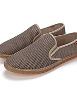 Men's Loafers & Slip-Ons Spring Fall Comfort Tulle Casual Light Grey Dark Grey Beige