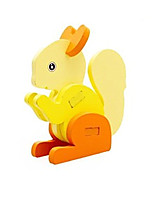 Jigsaw Puzzles 3D Puzzles Building Blocks DIY Toys Squirrel Wood Model & Building Toy