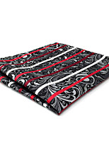 CH26 New Mens Casual Pocket Square Handkerchiefs Gray Red Multicolor Stripes 100% Silk Unique  Dress Fashion