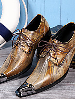 Men's Oxfords Spring Summer Fall Winter Formal Shoes Nappa Leather Outdoor Office & Career Party & Evening Casual Gold