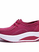Women's Sneakers Spring Comfort PU Casual Light Brown Fuchsia Black