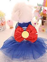 Chien Tee-shirt Vêtements pour Chien Mignon Mode Princesse Violet Bleu Rose