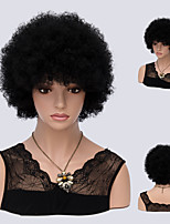 Short Wigs Synthetic None Lace Front Wig Kinky Curly African Kanekalon Heat Resistant Hair For Women Natural Black