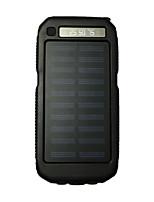3led sos 8000mah linterna banco de la energía 5v2a con la carga solar para el teléfono móvil