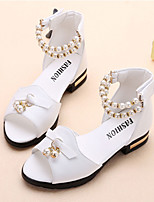 Girls' Sandals Summer Fall Comfort Flower Girl Shoes PU Outdoor Party & Evening Casual Low Heel