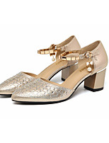 Women's Sandals Spring Club Shoes PU Casual Champagne Black