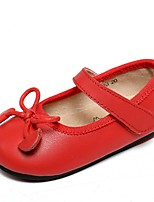 Girls' Sandals Spring Summer Ballerina Cowhide Dress Casual Flat Heel Black/White Red Black