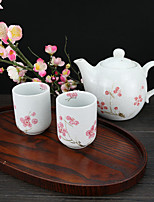 High Temperature Sakura Teapot set with one Pot(550ml) and Two Cups(125ml each)
