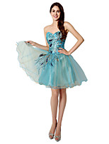 Cocktail Party Dress Ball Gown Sweetheart Short / Mini Tulle with Embroidery