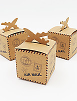 50pcs Lovely Air Plane Rustic Kraft Candy Box Wedding Party Box Birthday Party Decorations Kids Party Decorations