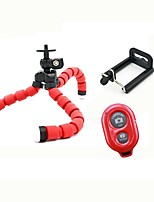 Tripod Flexible Octopus Bracket Holder Stand Mount for Mobile Phone Digital Camera (Red)