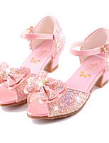 Girls' Sandals Summer Fall Comfort Novelty Flower Girl Shoes Microfibre Wedding Party & Evening Dress Casual Flat Heel Bowknot Buckle