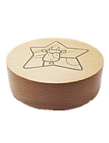 Music Box Circular Holiday Supplies Wood Unisex