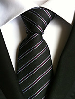 Men's Polyester Neck TieParty Work Casual Striped All Seasons W0003