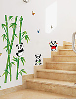 Cartoon Panda Bamboo Forest Family Wall Stickers Environmental Children's Bedroom Wall Stickers