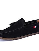 Черный Серый Хаки-Для мужчин-Повседневный-ПолиуретанМокасины-Мокасины и Свитер