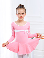 Ballet Dresses Kid's Training Cotton Spandex 1 Piece Leotard