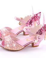 -Девочки-Свадьба Для праздника Повседневный Для вечеринки / ужина-Микроволокно-На плоской подошве На шпильке-Оригинальная обувь Обувь для