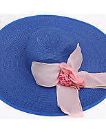 Wide Brim Straw Hat Women Bow Foldable Folding Sun Hat Summer Caps