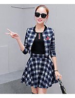 Women's Casual/Daily Simple Summer Blazer Dress Suits,Solid One Shoulder ½ Length Sleeve Cotton