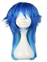 Two Tone Blue Ombre Synthetic Hair DRAMAtical Murder Costume Party Cosplay Wig Heat Resistant High Temperature