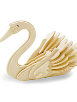 Jigsaw Puzzles 3D Puzzles Building Blocks DIY Toys Swan Wood Model & Building Toy