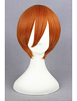 Short straight orange love live! -hoshizora rin synthétique 12inch anime cosplay perruque cs-181g