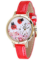 Women's Fashion Watch Quartz / PU Band Casual Black Red